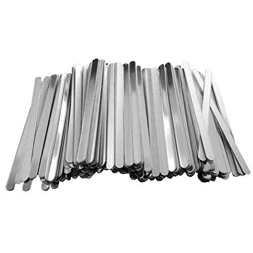 fan pin dian zi 100pcs DIY Aluminium Nasensteg-Streifen Für Nasensteg Band Clip Crafts Zubehör Machen
