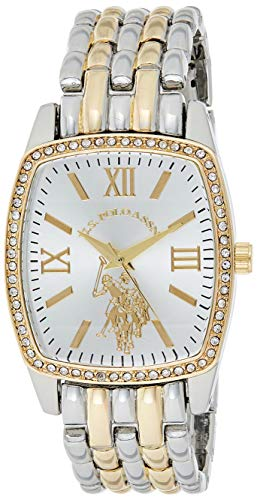 U.S. Polo Assn. Damen analog Quarz Uhr mit Legierung Armband USC40245AZ