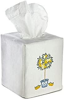 Jacaranda Living Linen/Cotton Tissue Box Cover, Lemon Topiary Tree