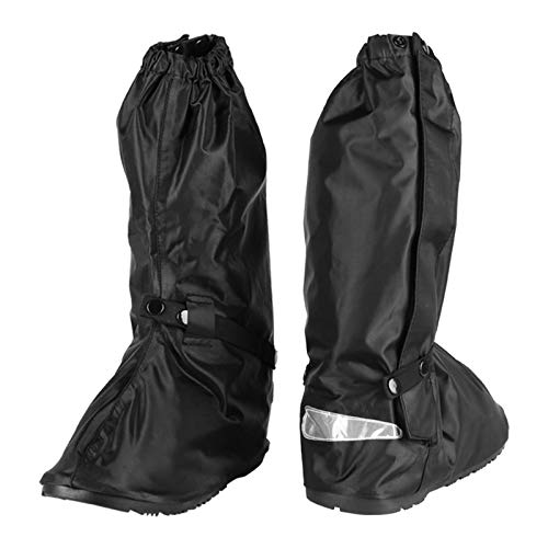 Protect the King Motorcycle Rain Boot Cover with Hard Sole Small, Black//Silver