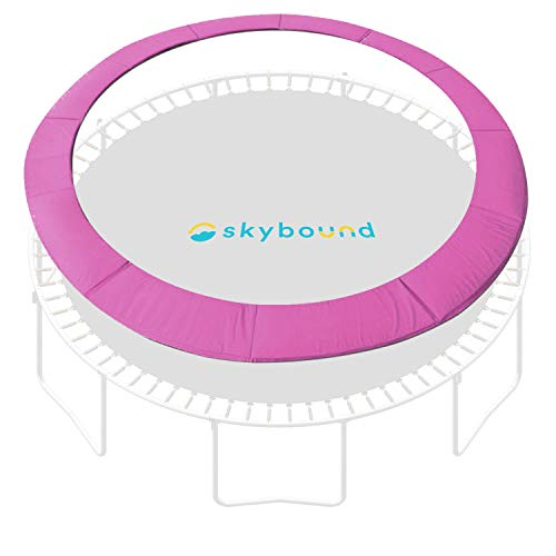SkyBound 14 Foot Universal Replacement Trampoline Pad (fits up to 7 Inch Springs) - Spring Cover (Pink)