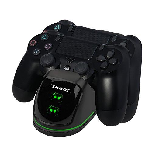 EXTSUD Chargeur PS4 Chargeur de Manette Station de Charge avec Indicateur LED et Câble USB Support d'alimentation pour Sony Playstation 4 / PS4 Slim / PS4 Pro Contrôleur sans Fil