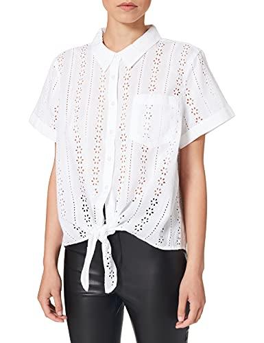 MUSTANG Damen ELSA Crochet Blouse Bluse, weiß, 34