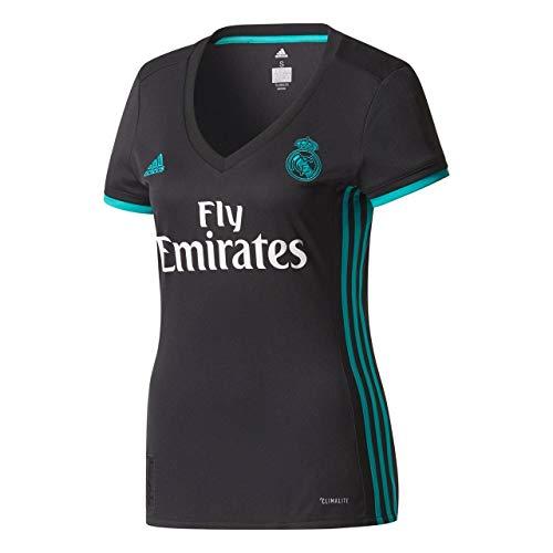 adidas A JSY W Camiseta 2ª Equipación Real Madrid 2017-2018, Mujer, Negro/arraer, M