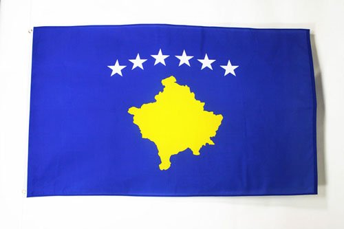 AZ FLAG Flagge Kosovo 150x90cm - Republik Kosovo Fahne 90 x 150 cm - flaggen Top Qualität