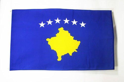 AZ FLAG Flagge Kosovo 90x60cm - Republik Kosovo Fahne 60 x 90 cm - flaggen Top Qualität