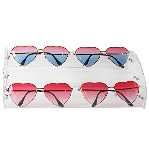 Brillenkoker voor zonnebrillen, 3-laags, verzameldoos, zonnebril, opbergdoos, stapelbaar, voor glazen, leuk cadeau voor brillen