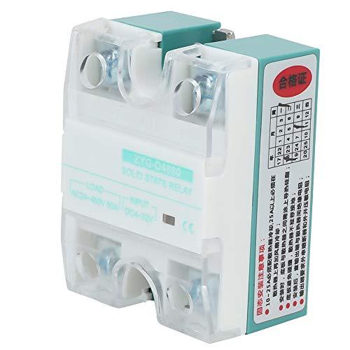 Halbleiterrelais - BiuZi ZYG-D4880 DC-Steuerung Einphasige AC-Halbleiterrelais-Verteilungs- und Steuerungsausrüstung mit LED-Röhrenanzeige 80A 4-32V-Eingang