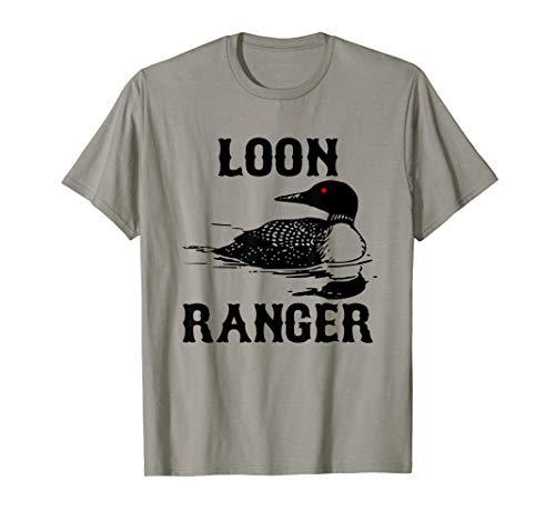 Loon Ranger Shirt Funny Common Loon TShirt Bird Watching Tee (Ranger Little Bird)