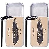 Lurrose 2 unidades de jabón para cejas, gel de larga duración, ajuste de cejas, impermeable, coloración de cejas, crema de maquillaje, crema bálsamo con pincel recortador de cejas