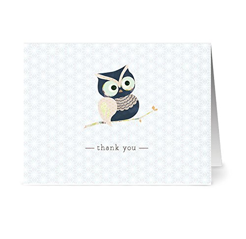 Note Card Cafe Thank You Cards with Kraft Envelopes | 36 Pack | Woodland Owl | Blank Inside, Glossy Finish | for Greeting Cards, Occasions, Birthdays, Gifts