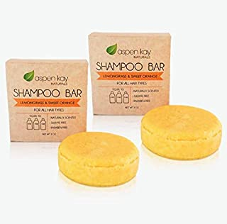 Solid Shampoo Bars, Made With Natural & Organic Ingredients, Sulfate-Free, Cruelty-Free & Vegan, All Hair Types, Two 3 Oun...