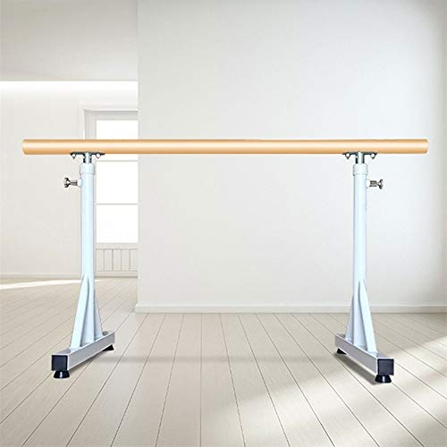 Ballet Barre Bar Ballet Barre,Dance Fitness Ballet Bar Adjustable Hight 80-120cm Stretch Barre Freestanding Adjustable for Adults and Kids Stretch Dance Fitness Bar (Color : White, Size : 1.5M)