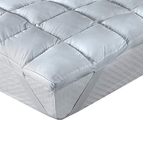 Klassisk blanc Topper/madrass överdrag fiber anti-allergi komfort plus hårdhet Cama 180 - 180 x 200 cm vit