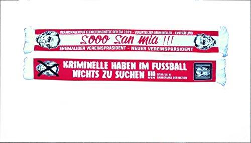 Anti HOENEß FANSCHAL Fan SCHAL Fan Scarf - SOOO SAN MIA - Anti-Bayern Anti Bayern SEIDENSCHAL