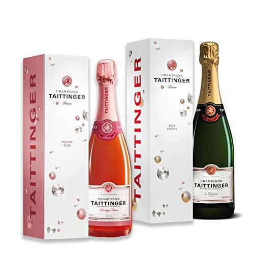 Exklusive Champagner im Geschenkset (Taittinger 2x0,75l)
