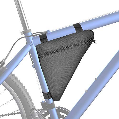 Binken Fahrrad Dreiecktasche Wasserdicht, Fahrradtasche Rahmen, Triangeltasche ideal für Fahrradschloss, Werkzeug, Regenjacke etc - Fahrrad Rahmentasche 1,5l Volumen