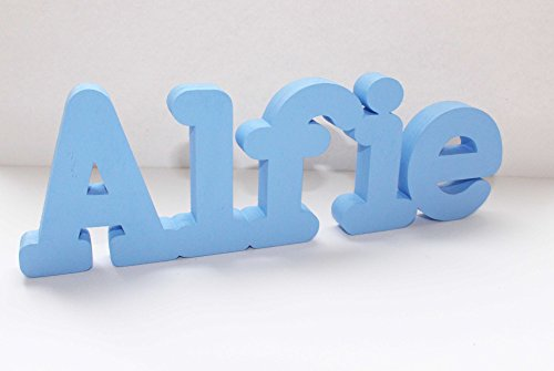 Cartello con nome personalizzabile da tavolo, Alfie ,regalo di compleanno, feste, matrimoni, ideale come centrotavola matrimoniale o come decorazione, ideale come regalo per il battesimo,Contatta il venditore tramite il messaggio Amazon per fornire il nome e il colore,MIA STUDIO