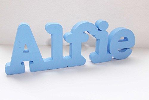Señal de letras para nombre personalizado Alfie, ideal para regalo de cumpleaños, bautizo, decoración de fiesta, para centro de mesa, regalo de aniversario, etc. Póngase en contacto con el vendedor a través de Amazon mensaje para proporcionar el nombre y el color ,Mia Studio
