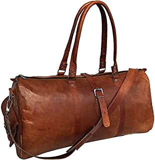 Leather jackson Travel Duffel Bag Gym Overnight Weekend Luggage Carry on Airplane Underseat Bag 20 inch
