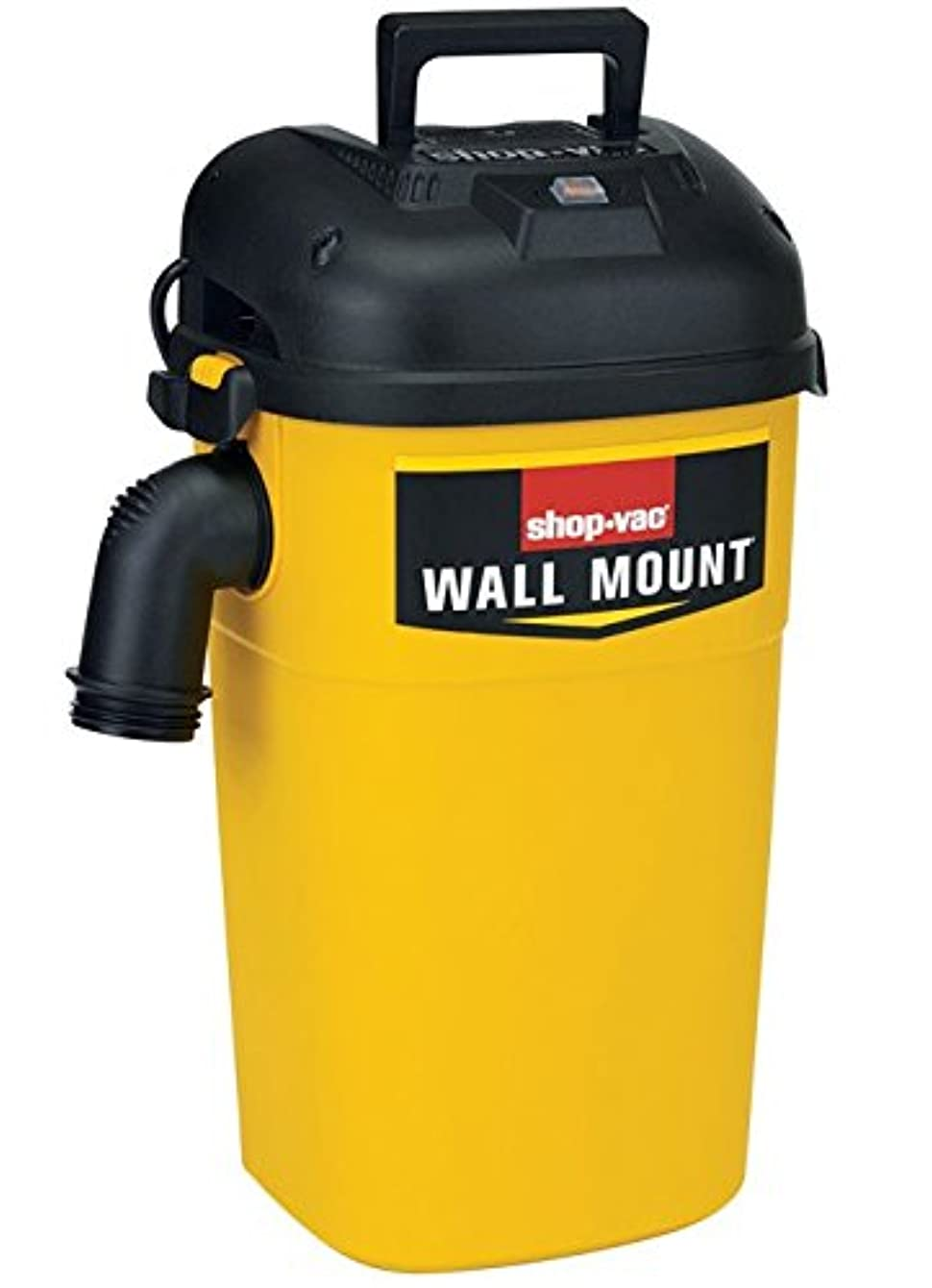 Shop-Vac 3942300 5 gallon 4.0 Peak HP Wall Mount Wet/Dry Vacuum Yellow/Black Hands-Free Vacuum with Accessories, Type AA Cartridge Filter & Type CC Foam Sleeve & Type O Filter Bag