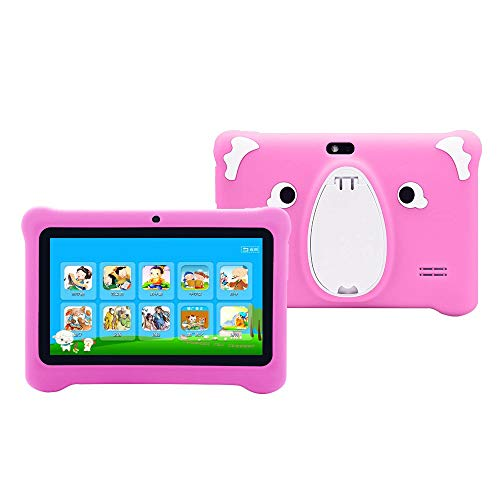 Roexboz Tableta infantil Android 6.0, Quad Core, Android, WiFi, Bluetooth, protección infantil con funda para tablet