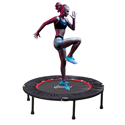 Jandecfit Foldable Fitness Trampoline, 40' for Indoor , Garden , Mini Portable, Aerobic Exercise Can Improve Heart and Coordination.