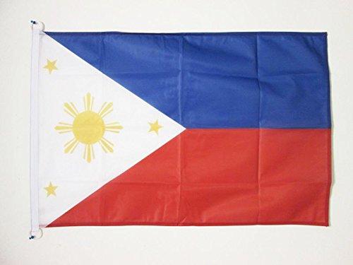 AZ FLAG Flagge Philippinen 150x90cm - PHILIPPINISCHE Fahne 90 x 150 cm Aussenverwendung - flaggen Top Qualität