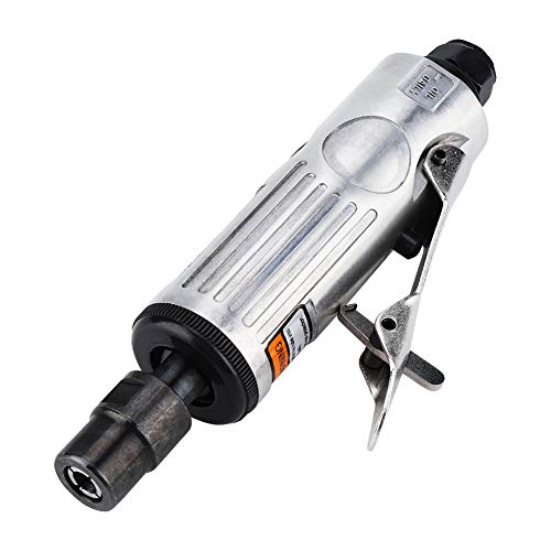16 pcs 1/4'1/8' Herramienta de pulido rotativa neumática, pulido de molino de aire Juego de herramientas de grabado con cabezales de pulido y accesorios de llave 25000RPM