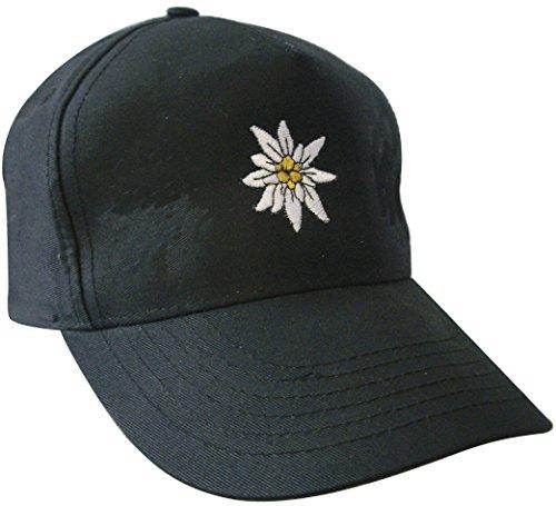 Fan-O-Menal Baseballcap mit Einstickung - Edelweiss - 60980 schwarz