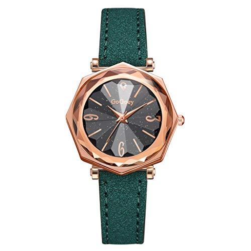 REALDE Reloj De Pulsera De Mujer Reloj De Pulsera De Cuarzo Digital para Mujer De Cuarzo con Correa En Silicona Moda Mujer Reloj Romano con Banda De PU