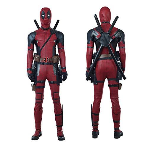 BLL Deadpool 2 Wade · Wilson in Pelle di Tuta Cosplay, Halloween Stage Spettacolo Ruolo Gioco Costume,10 Set Men-XL