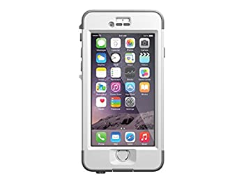 LifeProof NÜÜD iPhone 6 ONLY Waterproof Case  4.7  Version  - Retail Packaging - AVALANCHE  BRIGHT WHITE/COOL GREY