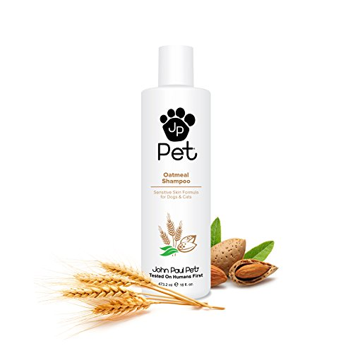John Paul Pet Oatmeal Shampoo for Dogs and Cats, Sensitive Skin Formula Soothes and Moisturizes Dry...