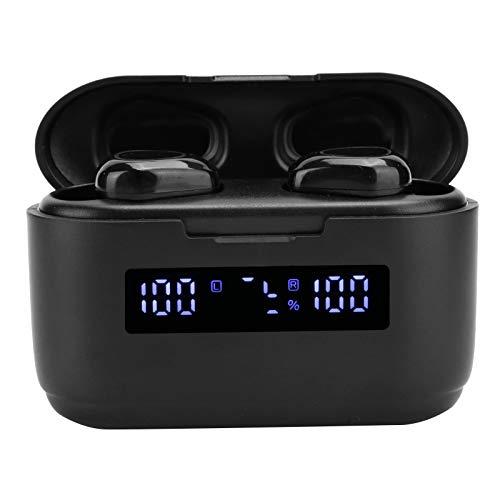 Cosiki Auriculares con Control táctil Auriculares Bluetooth 5.1 Impermeables Prácticos teléfonos móviles de Oficina para Exteriores para el hogar(G40 Black)