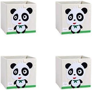 MADHEHAO 4 Paquets boîte de Rangement de Broderie Animale 3D Pliable boîtes de Rangement Cube de Rangement en Tissu utilis...