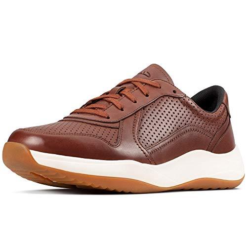Clarks Herren Sneaker Niedrig, Braun (British Tan Lea), 47 EU