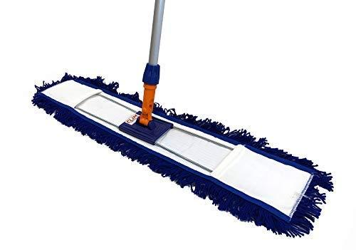 Clim Profesional - Mopa plana industrial acrílica de 80 cms con bastidor y mango aluminio 150 cms. Mopa acrílica antiestática especial para limpiar el polvo. Más...