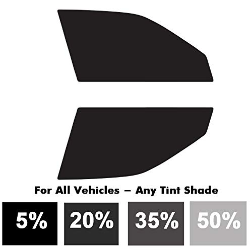 ReplaceMyParts Automotive Car Window Tinting Kit Custom Precut Tint Computer Cut Outs Front Side Windows Only