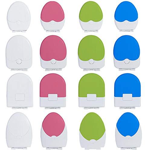 Familien 2 in 1 WC Sitz mit Eingebautem Kindersitz, O/V/U-Form Absenkautomatik Schnellverschluss Toilettendeckel für Kinder, PP-Material Kindertöpfchen Toilettensitz für Kleinkinder-Big U Shape-Green