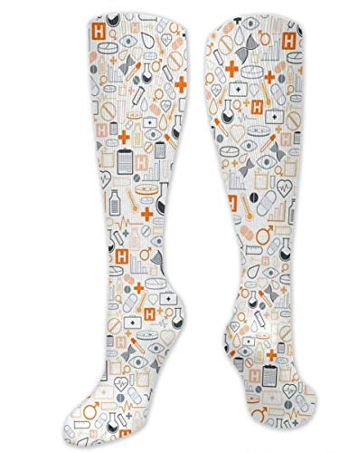 Preisvergleich Produktbild shizh Labor liefert Muster-Baumwollknie-Bein-Socken-lange Schlauch-Socken für das Sport-Turnhallen-Yoga,  das das Radfahren wandert