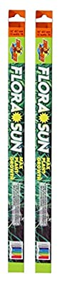Zoo Med (2 Pack Coral Flora Sun Plant Growth Bulb T8 15 Watts, 18-Inch