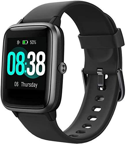 Smartwatch, Fitness Armband Tracker Voller Touch Screen Uhr IP68 Wasserdicht Armbanduhr Smart Watch mit Schrittzähler Pulsmesser Stoppuhr für Damen Kinder Sportuhr...