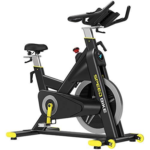 Bicicleta Estática De Spinning Fitness, Profesional Bicicleta Indoor, Reloj Electronico Multifuncional, Detección De Frecuencia Cardíaca, Cambio Continuo De Velocidad CVT, Volante Sólido 20kg, M