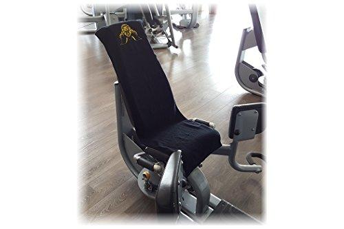 Fitnesshandtuch mit Fixierung / Kraftsport / Fitness / Fitnessstudio – 100 % Baumwolle Ð 2er Set schwarz - 3