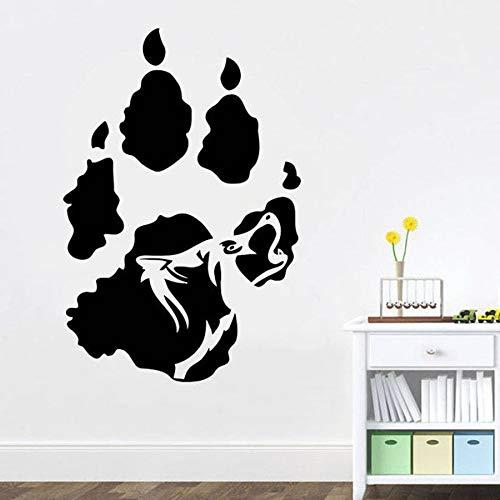 WERWN Calcomanía de Pared de Perro Lobo Animal Dormitorio Gente Cueva Bar Arte diseño de Interiores decoración Tatuaje Lobo Mural Moderno Vinilo Adhesivo de Pared