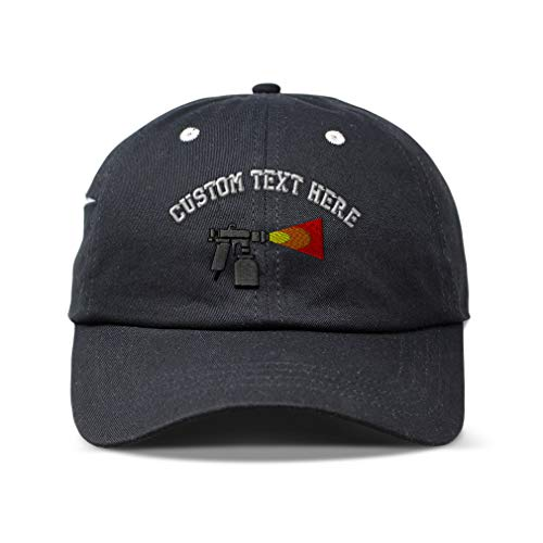 Custom Soft Pocket Baseball Cap Automotive Paint Gun Embroidery Cotton Dad Hats for Men & Women Strap Closure Black Personalized Text Here