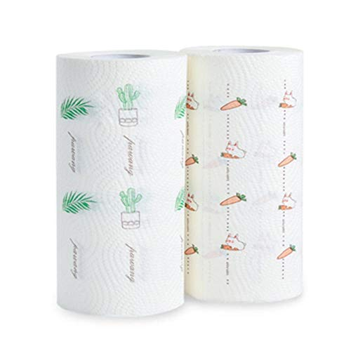 2 Rollen Huishoudelijke Keuken Wegwerp Papieren Handdoeken Multifunctionele Olie Absorptie Schoonmaak En Theedoek Aan