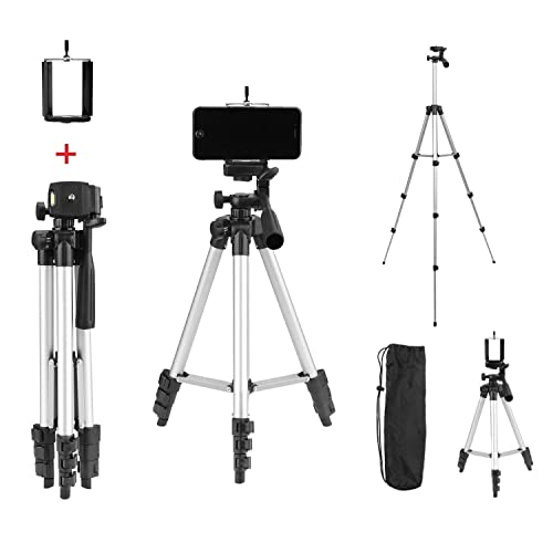Tygot Adjustable Aluminium Alloy Tripod Stand Holder for Mobile Phones & Camera, 360 mm -1050 mm, 1/4 inch Screw +...