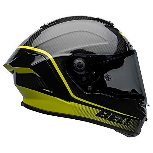 Bell Race Star DLX Adult Street Motorcycle Helmet - Velocity Matte/Gloss Black/HiViz/Medium